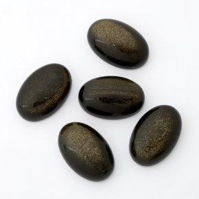 Кабошон обсидиан золотистый Мексика (1 шт) 8*12 мм