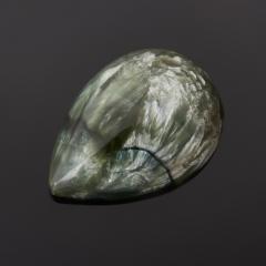 Кабошон клинохлор (серафинит) Россия 12*17 мм