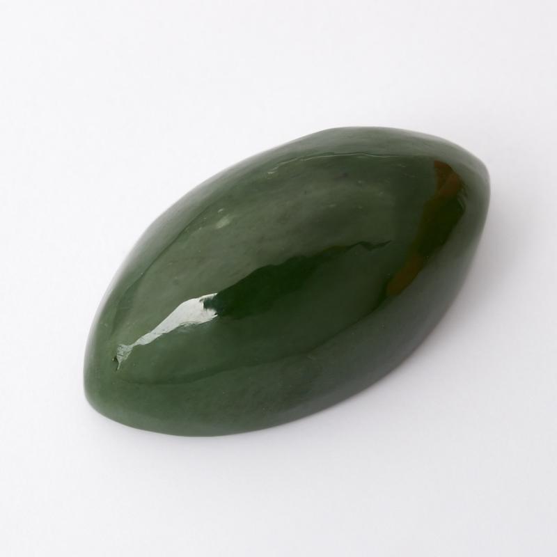 Кабошон нефрит зеленый 9*16 мм