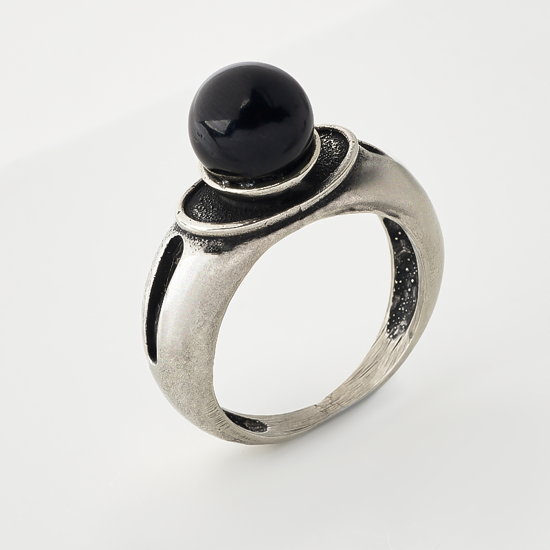 Кольцо гагат (биж. сплав оксидир.) размер 17 эпл якутские бриллианты кольцо э10к071561 17 0 0 325 размер 17