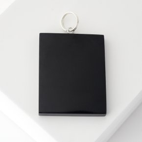 Кулон гагат Грузия (биж. сплав) прямоугольник 5,5 см