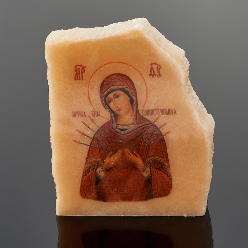 Фото - Изображение селенит Богоматерь Семистрельная 4-5 см изображение янтарь богоматерь владимирская 13х16 см