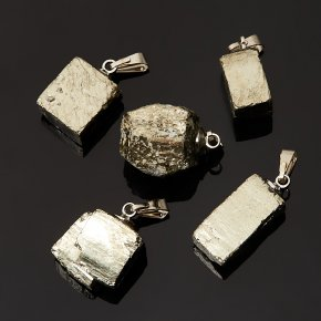 Кулон пирит Перу (биж. сплав) кристалл 2,5-3 см