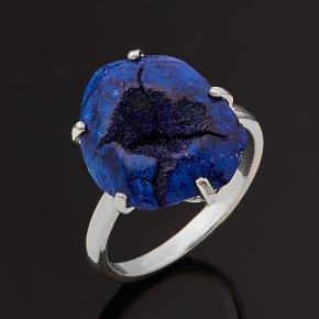 Кольцо азурит Россия (серебро 925 пр.) размер 18