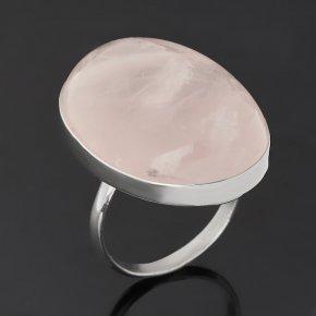 Кольцо розовый кварц Намибия (нейзильбер) размер 19