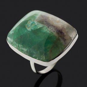Кольцо флюорит Монголия (нейзильбер) размер 18,5