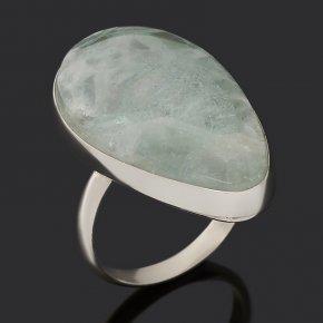 Кольцо флюорит зеленый Монголия (нейзильбер) размер 18
