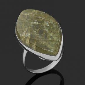Кольцо апатит зеленый Россия (нейзильбер) размер 18,5
