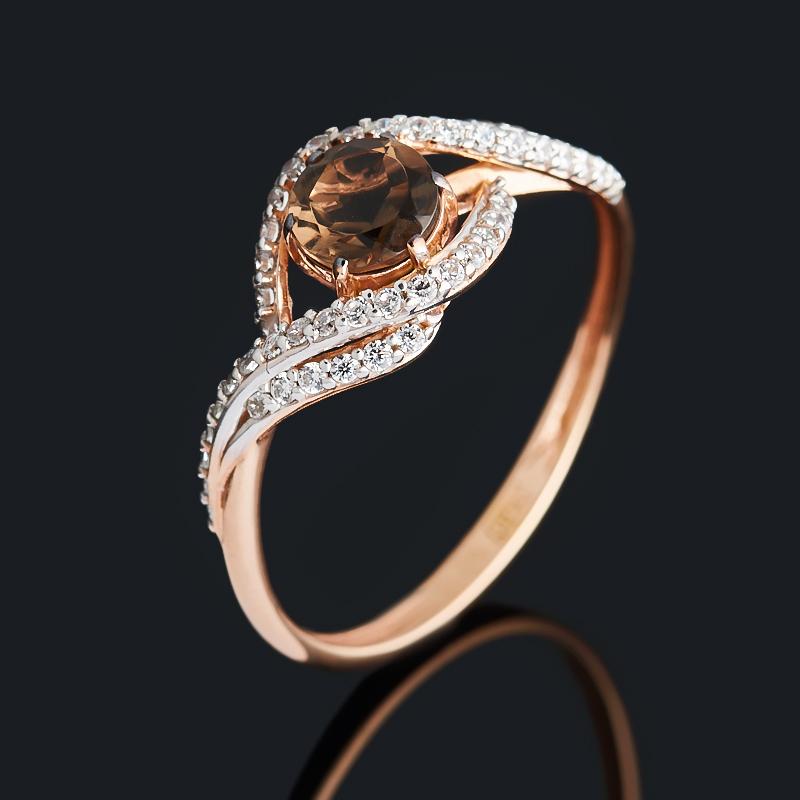 Фото - Кольцо раухтопаз (серебро 925 пр. позолота) огранка размер 17,5 кольцо раухтопаз огранка серебро 925 пр позолота размер 18 5