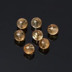 Бусина цитрин Бразилия шарик 6-6,5 мм (1 шт)