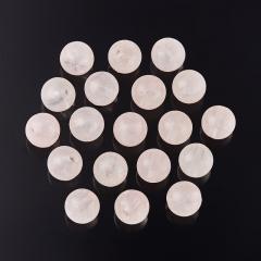 Бусина розовый кварц Бразилия шарик 6-6,5 мм (1 шт)