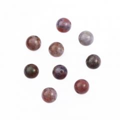 Бусина агат моховой фиолетовый Индия шарик 6-6,5 мм (1 шт)