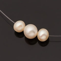 Бусы жемчуг белый Гонконг (серебро 925 пр.) (колье) 40 см