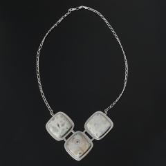 Колье агат крейзи Бразилия (серебро 925 пр. родир. бел.) 53 см