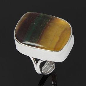 Кольцо флюорит (серебро 925 пр. родир. бел.) (регулируемый) размер 18