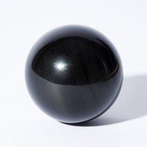 Шар обсидиан черный Мексика 4-4,5 см