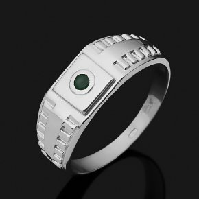 Кольцо изумруд Колумбия (серебро 925 пр. родир. бел.) огранка размер 22
