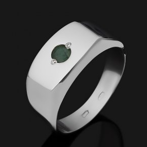 Кольцо изумруд Колумбия (серебро 925 пр. родир. бел.) огранка размер 20