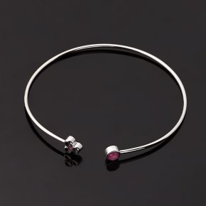 Браслет рубин Мьянма (серебро 925 пр. родир. бел.) огранка 17 см