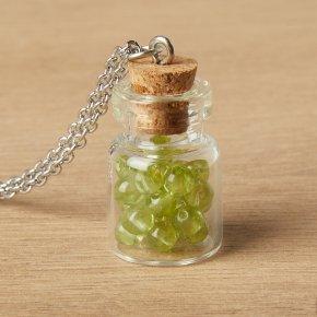 Кулон хризолит США (биж. сплав, сталь хир.) бутылочка 3 см