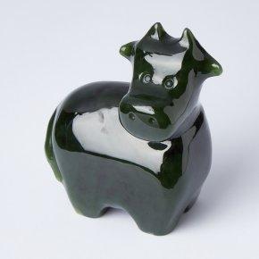 Корова нефрит зеленый Россия 6,5 см