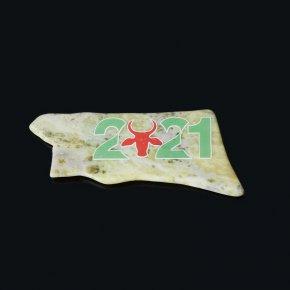 Магнит бык офиокальцит Россия 8-11 см
