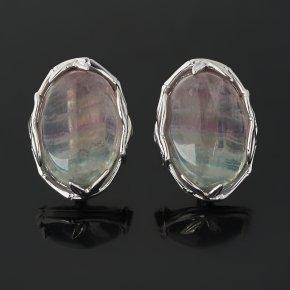 Серьги флюорит (серебро 925 пр. родир. бел.)
