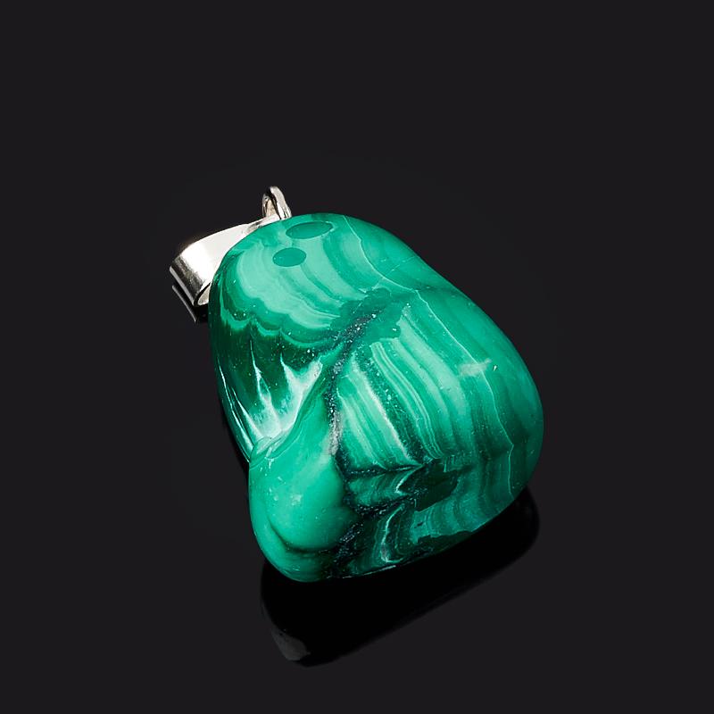 Кулон малахит Конго (биж. сплав) галтовка 1,5-2,5 см