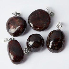 Кулон гранат альмандин Индия (биж. сплав) галтовка 2-3 см