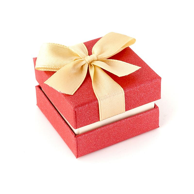 Подарочная упаковка (картон) под кольцо/серьги (коробка) (микс) 45х45х30 мм