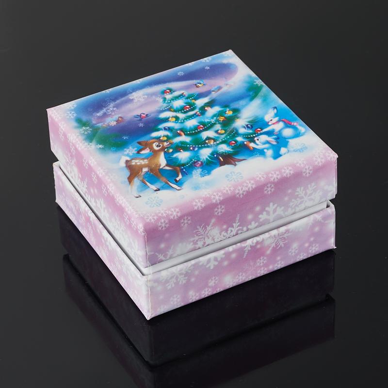 Подарочная упаковка (картон) под комплект (кольцо, серьги, кулон) (коробка) (микс) 60х60х30 мм