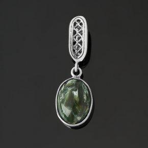 Кулон клинохлор (серафинит) Россия (серебро 925 пр. оксидир.) овал
