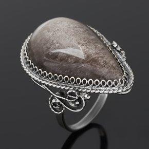 Кольцо обсидиан прозрачный Армения (нейзильбер) размер 18