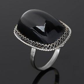 Кольцо обсидиан прозрачный Армения (нейзильбер) размер 16,5