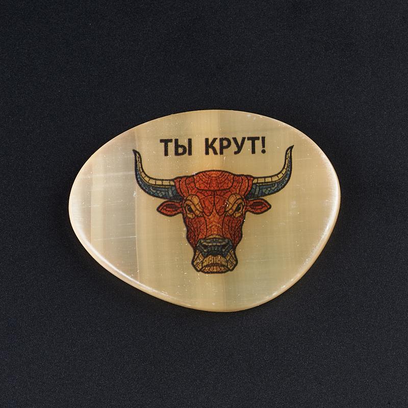 Магнит бык селенит 5 см магнит бык селенит 5 см