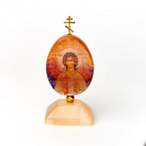 Изображение селенит Россия Ангел-хранитель с молитвой 9 см