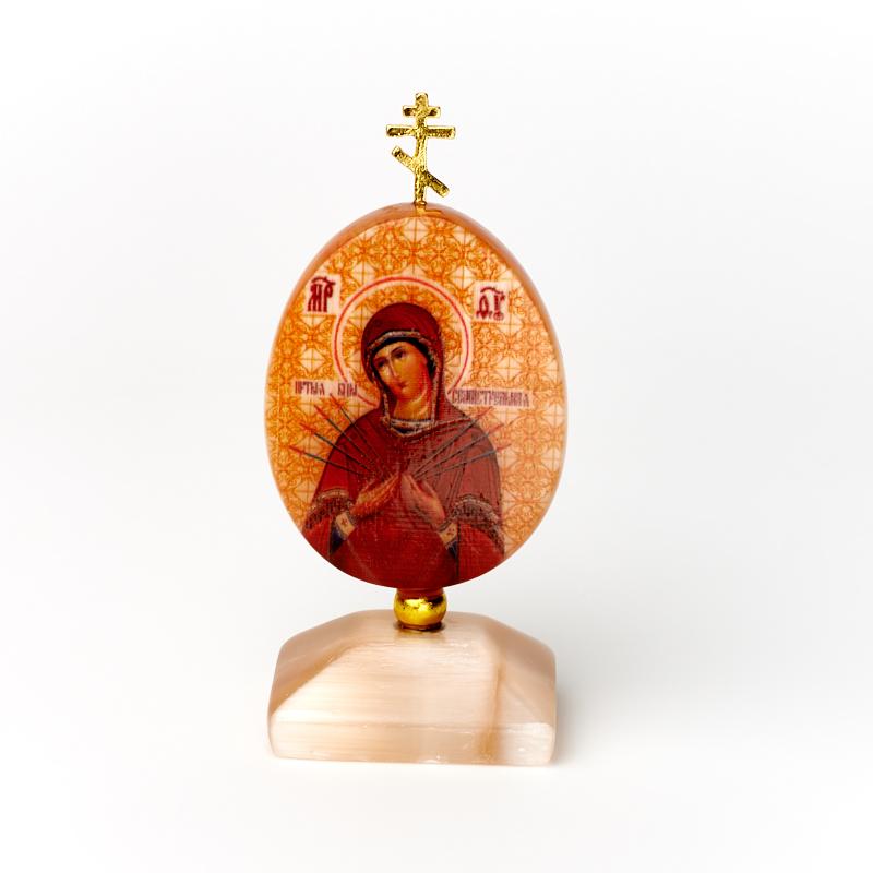 Фото - Изображение селенит Богоматерь Семистрельная с молитвой 9 см изображение янтарь богоматерь владимирская 13х16 см