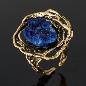 Кольцо азурит Россия (бронза) (регулируемый) размер 18