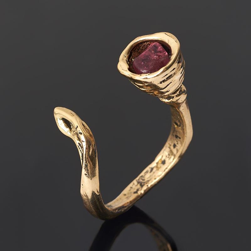 Кольцо турмалин розовый (рубеллит)  (бронза) (регулируемый) размер 17,5