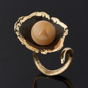 Кольцо селенит Россия (бронза) (регулируемый) размер 18,5