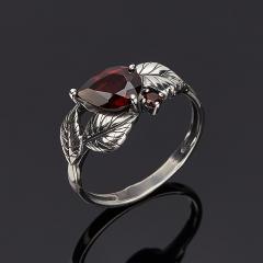Кольцо гранат альмандин Индия (серебро 925 пр. оксидир.) огранка размер 17