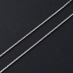 Цепь (серебро 925 пр. родир. бел.) полновесная якорь 45 см Россия