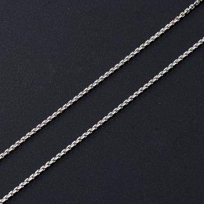 Цепь (серебро 925 пр. родир. бел.) полновесная якорь 65 см Россия