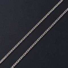 Цепь (серебро 925 пр. родир. бел.) полновесная двойной ромб 55 см Россия