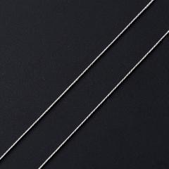Цепь (серебро 925 пр. родир. бел.) полновесная снейк 55 см Россия