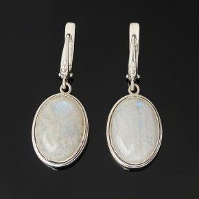 Серьги лунный камень (адуляр) Индия (серебро 925 пр.)