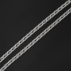 Цепь (серебро 925 пр. родир. бел.) полновесная тройной ромб 55 см Россия