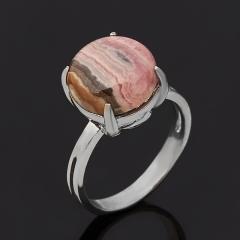 Кольцо родохрозит Аргентина (серебро 925 пр. оксидир.) размер 17,5