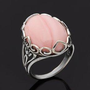 Кольцо опал розовый Перу (серебро 925 пр. оксидир.) размер 18