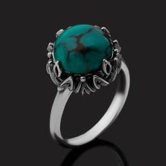 Кольцо бирюза Тибет (серебро 925 пр. оксидир.) размер 18,5